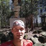 Kilometr pod vrcholem, musel jsem si zaznamenat pro příště, kudy by se dalo běžet příště, třeba do Soběnova ?